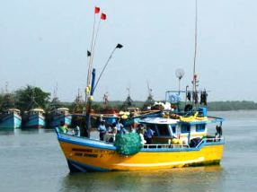 Seized Sri Lankan Fishing  Vessel