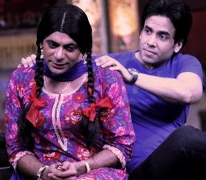 Tusshar Kapoor with Chutki on Mad In India