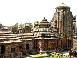 Lingaraj temple, the 11th century holy Hindu shrine in Old Bhubaneswar
