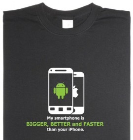 T shirt with mobile ph printed