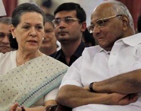Sonia Gandhi witH Sharad pawar ( file pic)