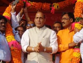 Rajnath in Kandhamal