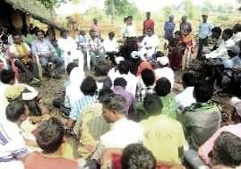 simlipal villagers boycott poll meeting