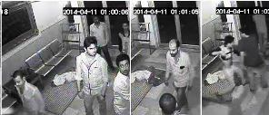 Tell-tale CCTV footage