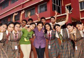 Jubilant students at DAV, CS Pur, Bhubaneswar