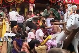 Touching the idols Rath Yatra