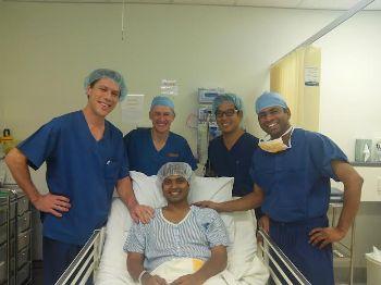 Dilip Tirkey, surgery Photo.