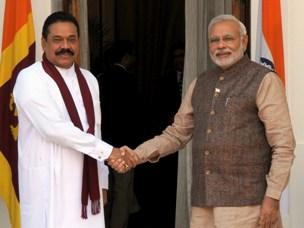 The Prime Minister, Shri Narendra Modi with the President of the Democratic Socialist Republic of Sri Lanka, Mr. Mahinda Rajapaksa, in New Delhi on May 27, 2014.