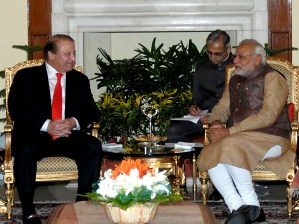 Modi with Sharif  (PIB)