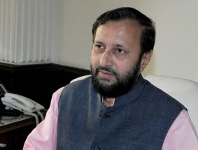 Shri Prakash Javadekar taking charge as the Minister of State (Independent Charge) for Ministry of Information and Broadcasting, in New Delhi on May 27, 2014.