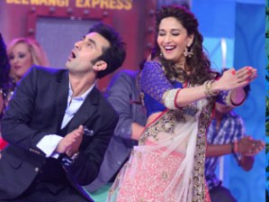 Madhuri- Ranbir in an earlier show in Jhalak...