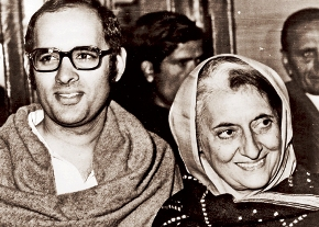 Sanjay with mother Indira Gandhi