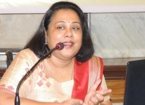 Dr Shruti Mohapatra at the media briefing
