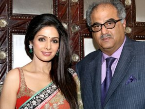 Sridevi with hubby Boney Kapoor (source:hindustantimes.com)