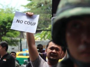 Anti-coup protest in Bangkok (Xinhua/Li Yinze)(cy)