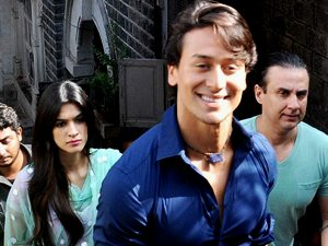 Tiger Shroff with Kriti