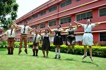 Jubilant student at DAV CS Pur in Bhubaneswar