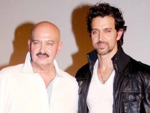 Hrithik with his father