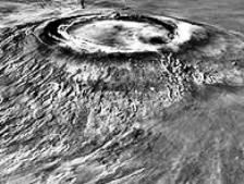 Arsia Mons is the third tallest volcano on Mars