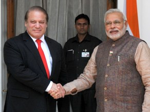 PM Narendra Modi with the Pakistan PM Nawaz Sharif, in New Delhi on May 27, 2014 (PIB)