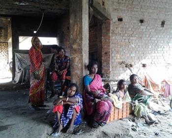 managal slum fire victims