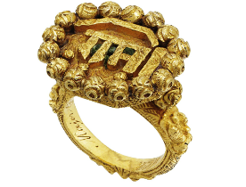 Tipu Sultan's ring auctioned in London (source : khanatosh.blogspot.com)