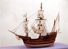 Model of Santa Maria Ship  ( source: sciencemuseum.org.uk)