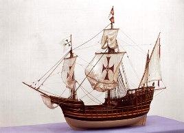 Model of Santa Maria Ship  ( source: sciencemuseum.org.uk)