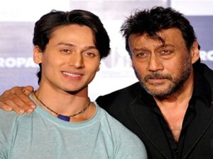 Tiger with father Jackie Shroff