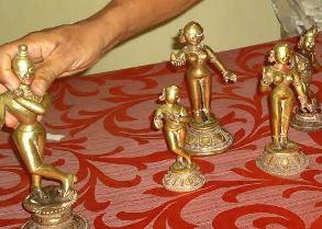 Recovered Ashtadhatu idols