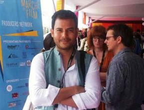 Jitendra Mishra at the Market section, Cannes
