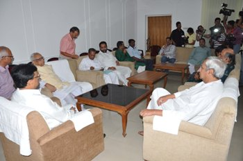 Chief Minister  Shri Naveen Patnaik attending an All Party meeting  2