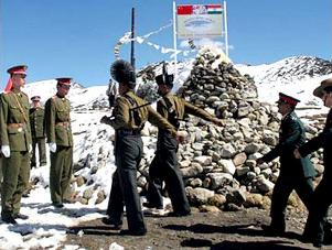 Indian Chinese border flag staff meet (indiandefencereview.com)