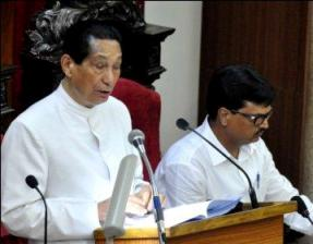 Governor  Dr Jamir addressing Odisha Assembly