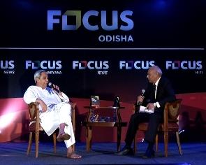 Naveen Patnaik at the Focus TV Q&A session