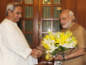 File pic- Naveen Patnaik meeting PM Modi (PIB)