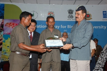Receiving Awards from Lt. Governor- Andaman