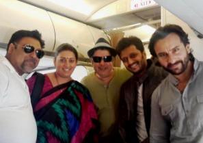 Stars of Humshakals - with HRD minister Smriti Irani  (Photo: IANS)
