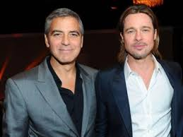 brad pitt with george clooney
