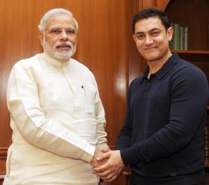 AamirKhan with Modi
