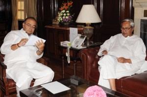 Odisha CM meeting with Union Finance minister (PIB pic)