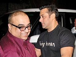 Santoshi with Salman Khan