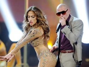 Lopez with Pitbull