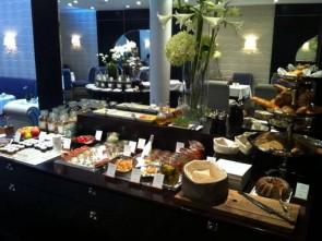 Elaborate organic breakfast at Hotel Topazz