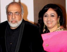 JP Dutta with wife Bindiya Goswami