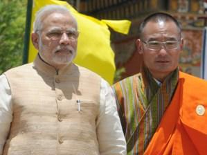 Indian PM Modi with Bhutan PM Lyonchhen Tshering Tobgay (PIB pic)