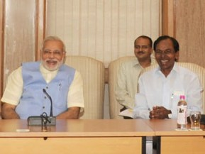 The Chief Minister of Telangana, Shri K. Chandrashekar Rao called on the Prime Minister, Shri Narendra Modi, , in New Delhi on June 07, 2014.