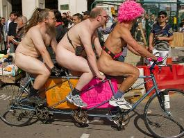 naked cyclists rally canada