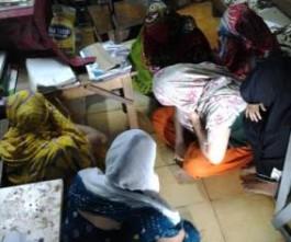 Rescued women  (pic -Santosh Jagdev)