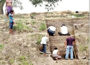 File Pic of excavation at Suabarai village